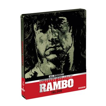 RamboCoffret Rambo La Trilogie Steelbook Edition Limitée Blu-ray 4K Ultra-HD