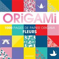 Bloc origami fleurs