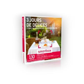 Coffret cadeau Smartbox 3 jours de délices