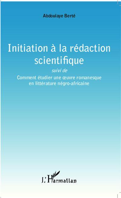 Initiation à la rédaction scientifique