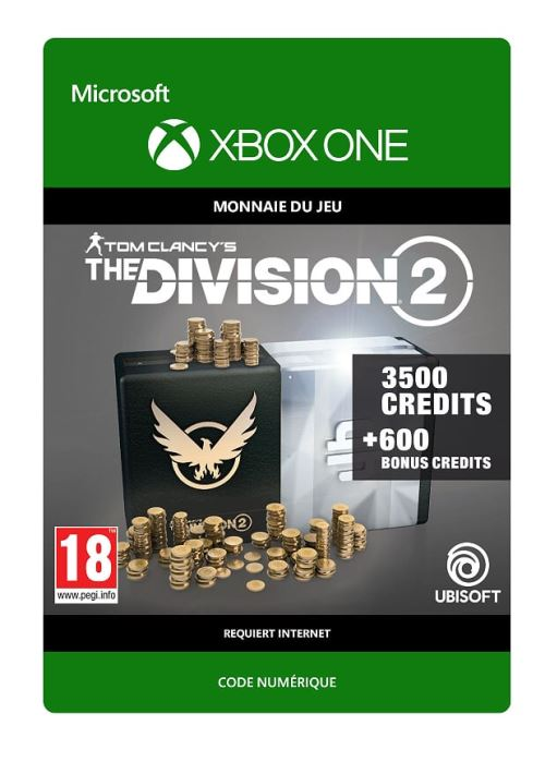 Code de téléchargement Tom Clancy's The Division 2: 2250 Premium Credits Pack Xbox One