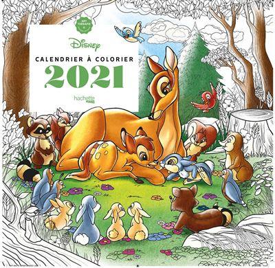 Disney   Calendrier Art thérapie Disney à colorier 2021   Tracy De