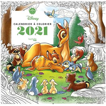 Disney   Calendrier Art thérapie Disney à colorier 2021   Tracy De