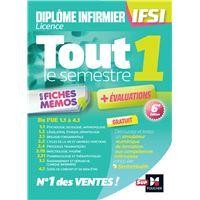Tout le semestre 1 en fiches mémos - DEI IFSI - Révision et entrainement