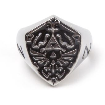 ZELDA-HYRULE SIGNET METAL SHIELD RING (M)