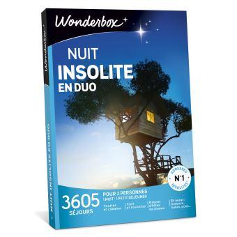 coffret cadeau wonderbox nuit insolite en duo coffret. Black Bedroom Furniture Sets. Home Design Ideas