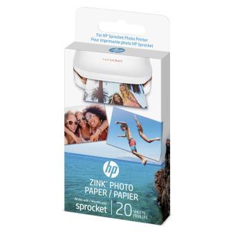 HP SPROCKET ZINK PAPER PHOTO 5X7.6CM 20SH
