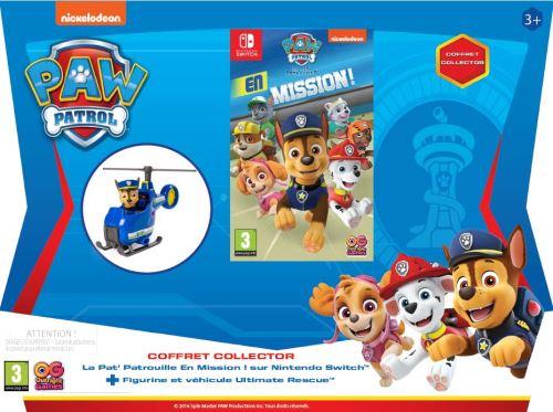 Pack La Pat' Patrouille en Mission ! Nintendo Switch + Figurine et Mini Hélicoptère La Pat' Patrouille Ultimate Rescue Bleu