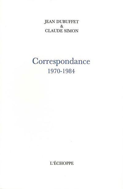 Correspondance 1970-1984