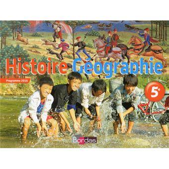 Histoire Geographie 5e Manuel Eleve 2016