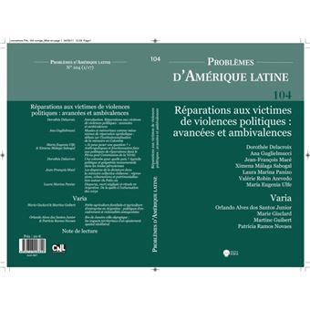 Problemes d'amerique latine 104 (1-2017)