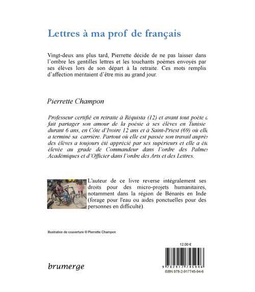 Lettres à Ma Prof De Français