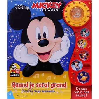 Mickey Grand Album Musical Lumineux Mickey Et Ses Amis