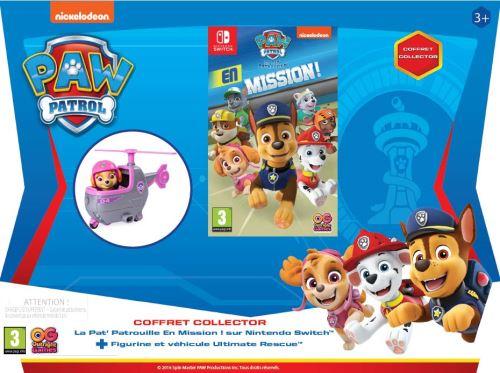 Pack La Pat' Patrouille en Mission ! Nintendo Switch + Figurine et Mini Hélicoptère La Pat' Patrouille Ultimate Rescue Skye