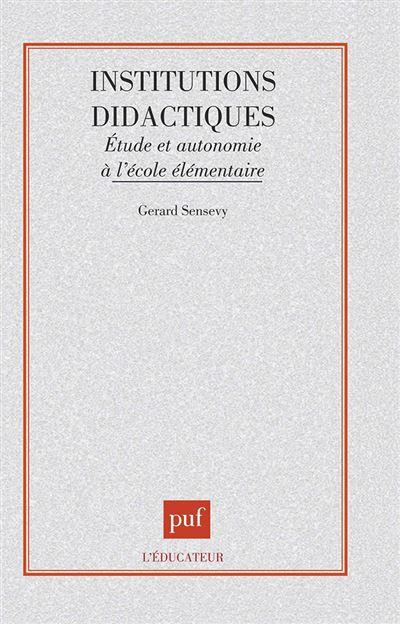 Institutions didactiques etude et autonomie a l'ecole eleme