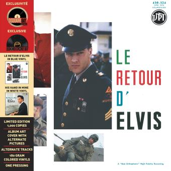 Le retour d'Elvis His hand in mine Vinyle bleu et blanc