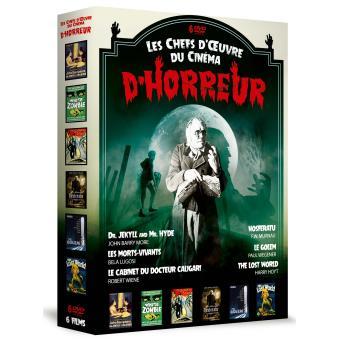 Coffret Les grands classiques du cinéma d'horreur 6 films DVD