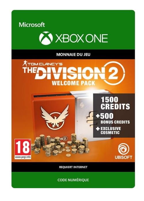 Code de téléchargement Tom Clancy's The Division 2: Welcome Pack Xbox One