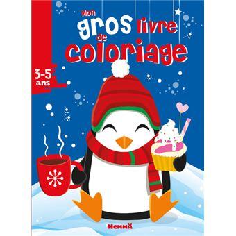 Mon Gros Livre De Coloriage Noel Pingouin