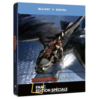 Dragons, cavaliers de BeurkDragons 3 : Le Monde Caché Steelbook Edition Spéciale Fnac Blu-ray