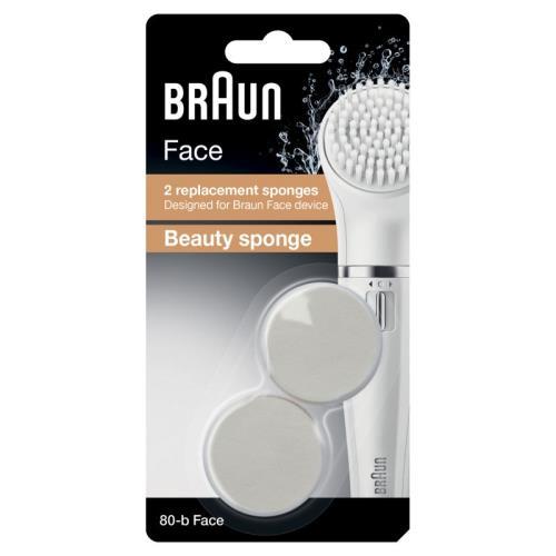 Lot de 2 Brosses de visage Braun Eponge Beauté Face 80-B