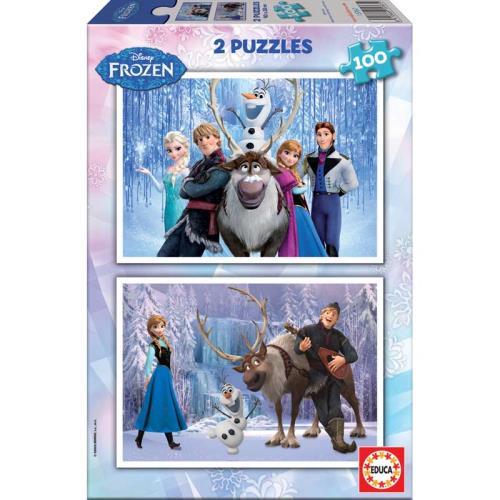 Puzzle 2X100 pièces Frozen La Reine des Neiges