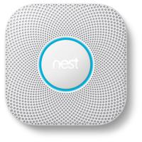 Nest Protect 2e generatie op batterijen gevoed koolmonoxide en rookalarm
