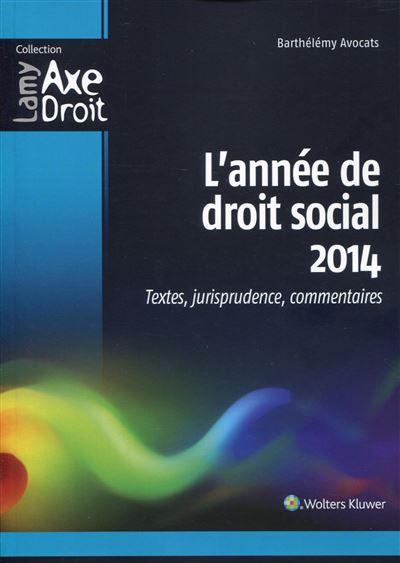 L'année de droit social 2014