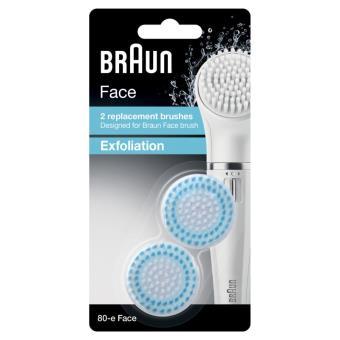 Lot de 2 Brosses de visage Exfoliantes Braun Face Silk-Epil 80-E
