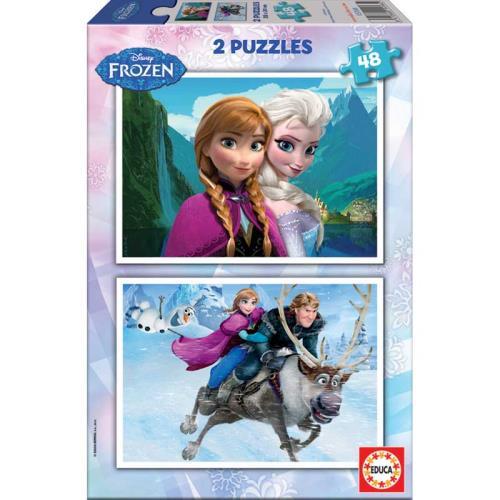 Puzzle 2X48 pièces Frozen La Reine des Neiges