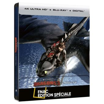 Dragons, cavaliers de BeurkDragons 3 : Le Monde Caché Steelbook Edition Spéciale Fnac Blu-ray 4K Ultra HD