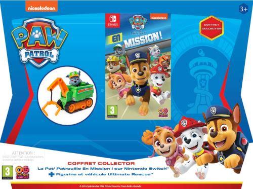 Pack La Pat' Patrouille en Mission ! Nintendo Switch + Figurine et Mini Crane Rocky La Pat' Patrouille Ultimate Rescue Vert