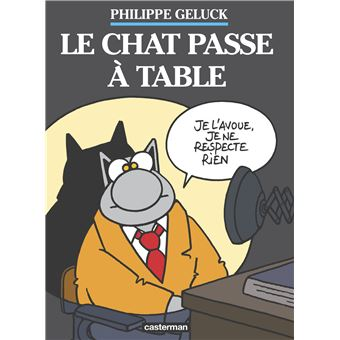 bande dessinee le chat passe a table