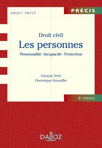 Droit civil. Les personnes - 8e ed.