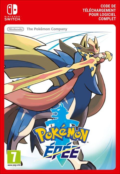 Code de téléchargement Pokémon Epée Nintendo Switch