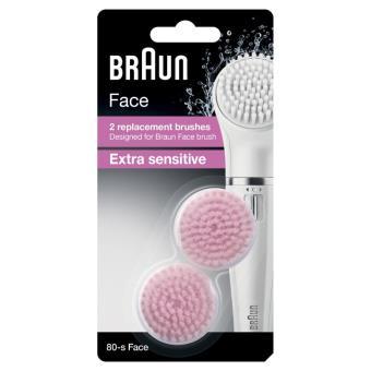 Lot de 2 Brosses Peaux Sensible Braun Face Silk-Epil 80-S