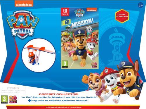 Pack La Pat' Patrouille en Mission ! Nintendo Switch + Figurine et Mini Hang Glider Zuma La Pat' Patrouille Ultimate Rescue