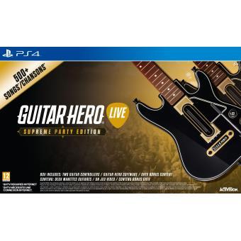 Guitar Hero Live Supreme Party Edition PS4 - Jeux Vidéo - Achat