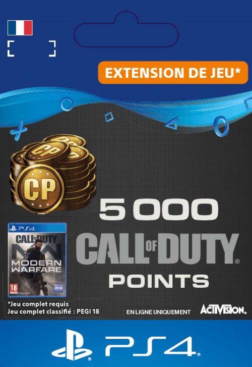 Code de téléchargement Call of Duty : Modern Warfare 5000 Points PS4