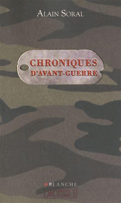 Chroniques d'avant-guerre - 9782846284486 - 9,99 €