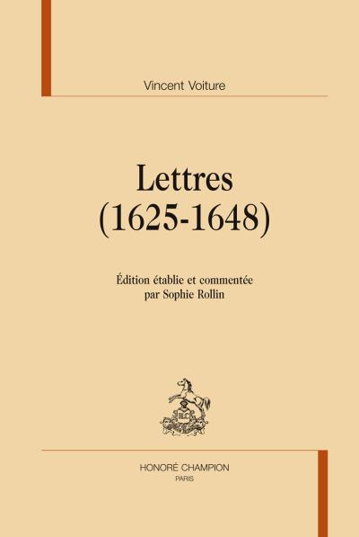 Lettres, 1625-1648