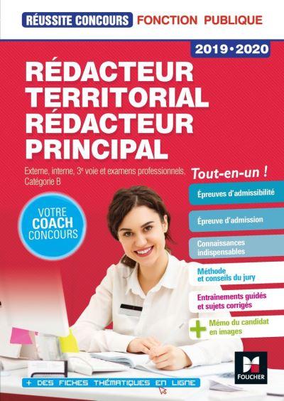 Réussite Concours - Rédacteur territorial/Rédacteur principal - 2019-2020 - Préparation complète - 9782216154500 - 15,99 €