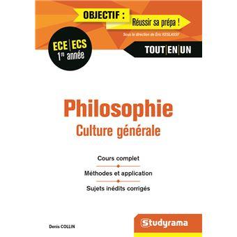 Philosophie, Culture générale 1ère année ECE-ECS