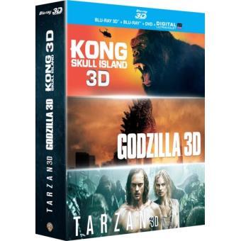 GodzillaCoffret Godzilla Kong : Skull Island Tarzan Blu-ray 3D + 2D