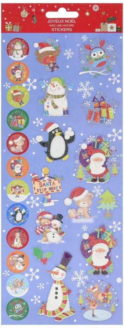 Sticker Noël bleu