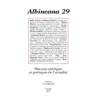 Albineana,29:discours satiriques et poetiques de l'actualite