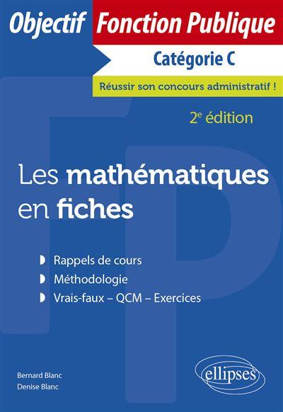 Les mathématiques en fiches, catégorie C