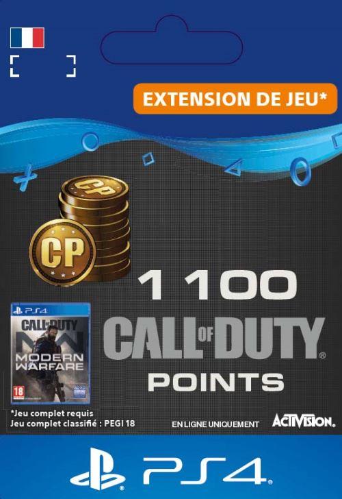 Code de téléchargement Call of Duty  : Modern Warfare 1100 Points PS4