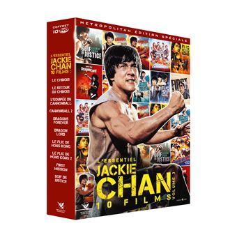 Coffret Jackie Chan L'Essentiel Numéro 3 10 Films DVD