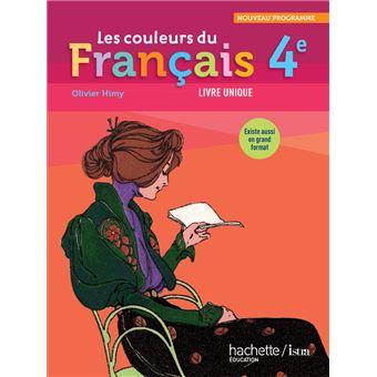 Les Couleurs Du Francais 4e Livre Eleve Format Compact